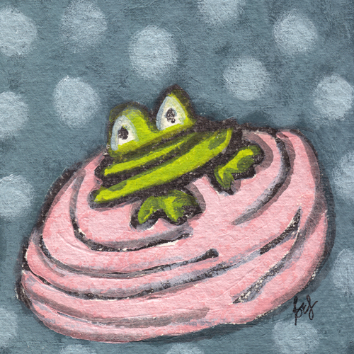 Frog in a Blanket