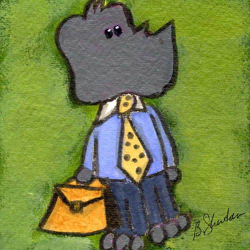 Rhino Businessman