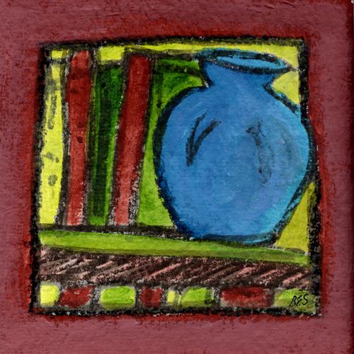 Chatham Blue Vase