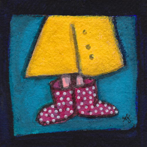 Polka Dot Galoshes