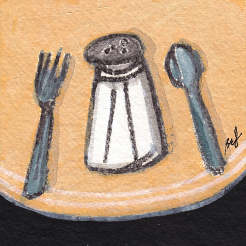 Fork, Salt, Spoon