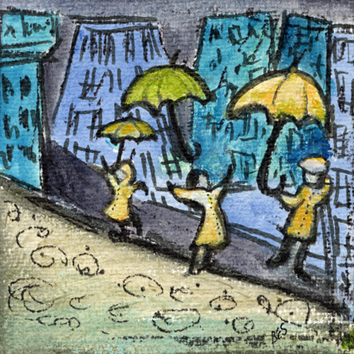 Some People Love Rainy Days by Bernadette Sheridan