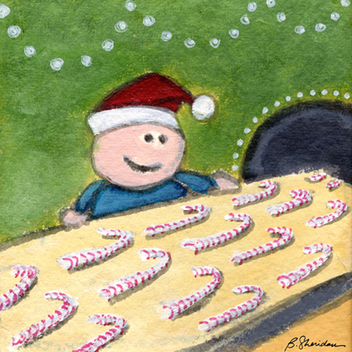 Candy Cane Quality Control by Bernadette Sheridan