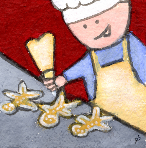 Making Gingerbread Men by Bernadette Sheridan