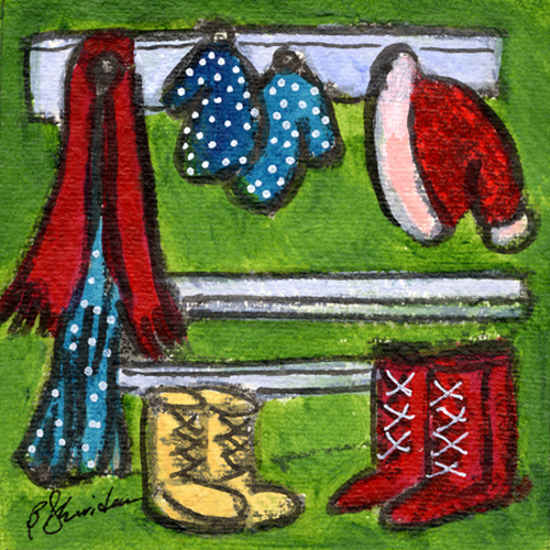Mittens and Boots by Bernadette Sheridan