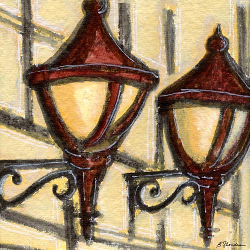 Bronxville Bank Lamps