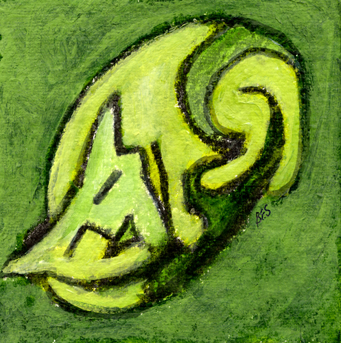 Mod Green Kitty