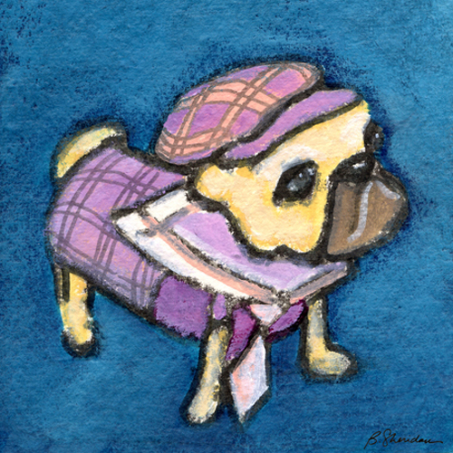 Pink and Purple Pug
